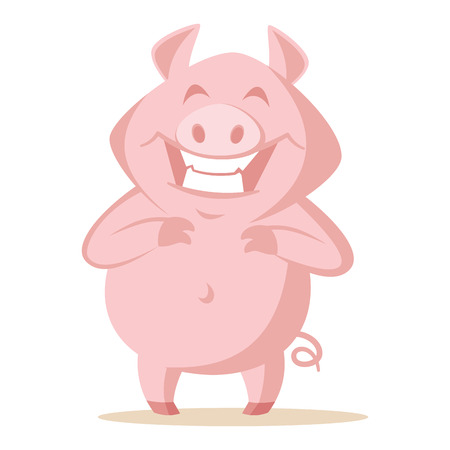 Cute pig Vector illustration isolated on white background Stock Illustration - 124541043