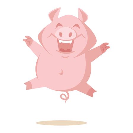 Cute pig Vector illustration isolated on white background Stock Illustration - 124554081