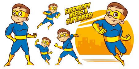 Superhero character Superheroes Set Vector illustration design