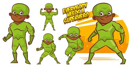 Superhero character Superheroes Set Vector illustration design Stock Vector - 124554256