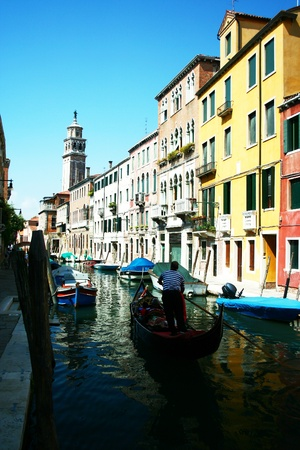 Transportation in Venice by Gondola