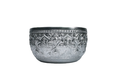 Thai metal bowl Stock Photo