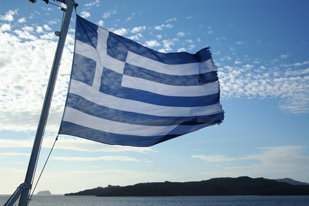 Greece flag background