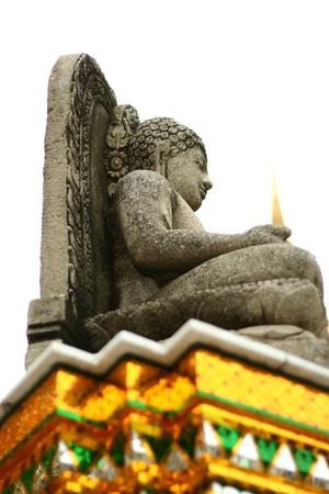 lord buddha: The Lord buddha sandstone sculpture Stock Photo