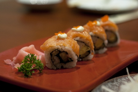 Japanese food - Salmon MAKI