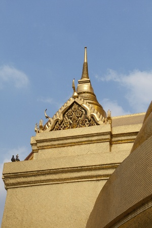 A golden pagoda in the temple