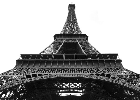 Eiffel Tower in balck and white, Paris France photo