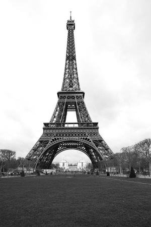 Tour Eiffel in black and white, Paris France