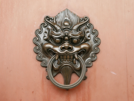 general: Dragon brass door handle in chinese style