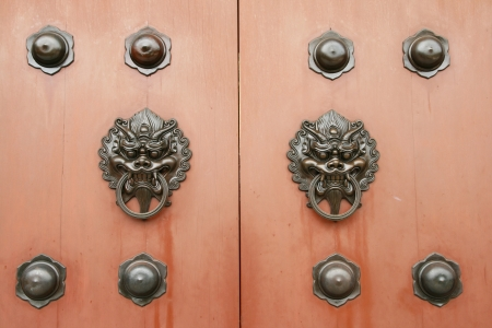 Dragon brass door handle in chinese style photo
