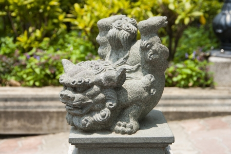 Statue of chinese imperial Lion, Hong Kong