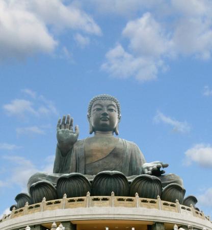 Big buddha statue, Lantau, Hong Kong Stock Photo - 14897442
