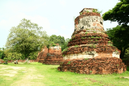 A ruined pagoda in Ayuthaya historical park, Thailand