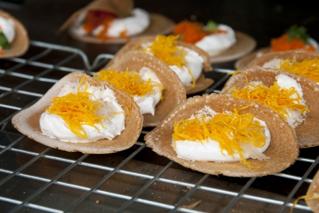 Crispy and cream thai traditional dessert