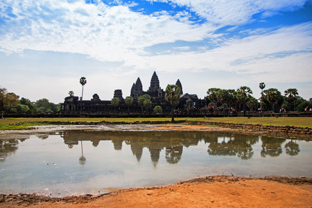 Angkor Wat - ancient Khmer temple in Cambodia   Stock Photo