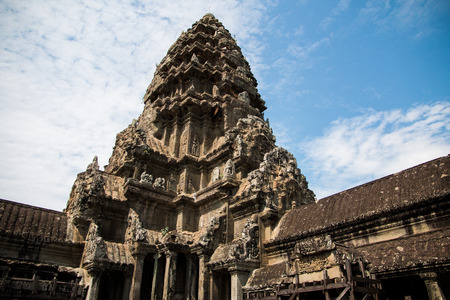 Angkor Wat - ancient Khmer temple in Cambodia