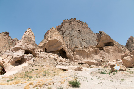 The landscape of Ihlara valley - historical area, Cappadocia, Turkey