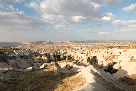 goreme: Landscape of sandstone mountain in Goreme - Cappadocia, Turkey