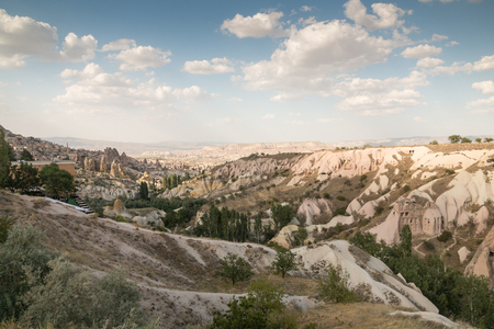 unesco: The landscape of sandstone mountain at Cappadocia, Turkey - UNESCO Stock Photo