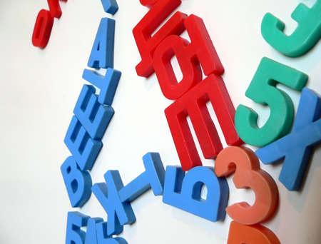 Colour russian letters photo