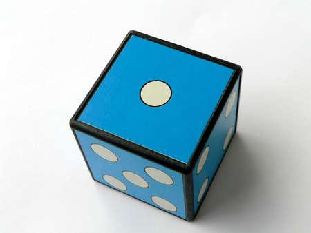 Blue dice 1 Stock Photo - 504539