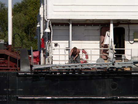 Sailor on deck photo
