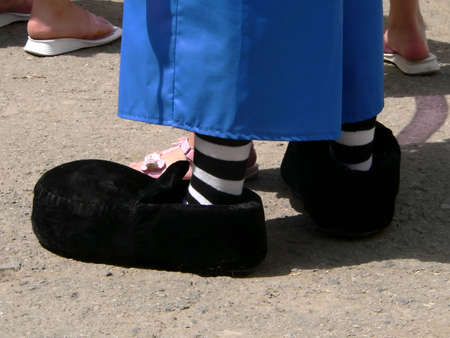 Black shoes  of the clown photo