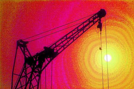 Jib of the lifting crane  (super saturation)