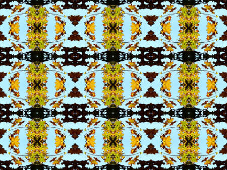 inlay: Series of the seamless natural patterns (top of the tree) Stock Photo