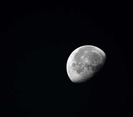 Half Moon on the black sky background Stock Photo - 3027346