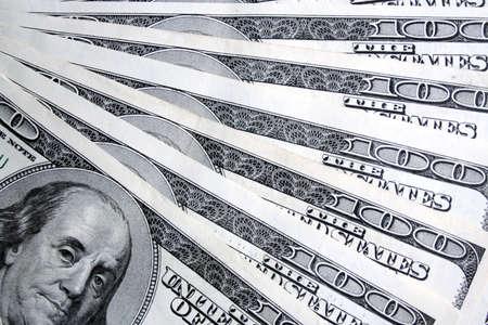Money. Hundred dollars background Stock Photo - 3216809