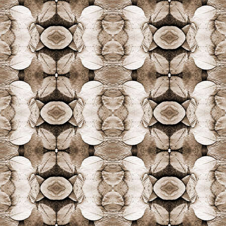 Series of the seamless natural patterns (toned leaves, sepia) Stock Photo - 3348458