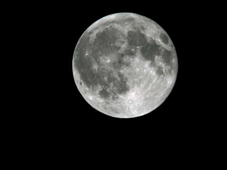 Full Moon on the night sky background 3
