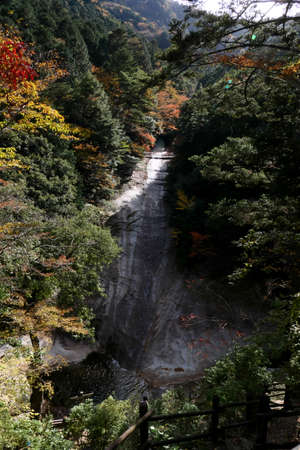 Waterfall in the Ehime Prefecture Namerayuka Valley