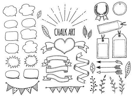 Chalk art set 일러스트