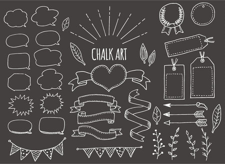 Chalk art set (black background)