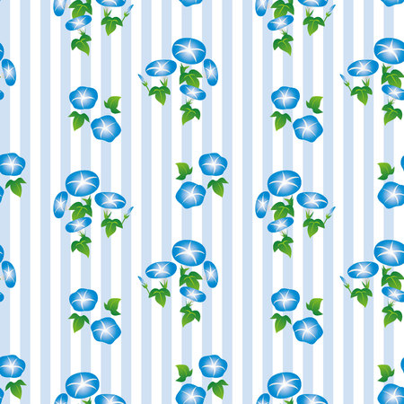 Morning glory seamless background digital paper, swatch. This is seamless.