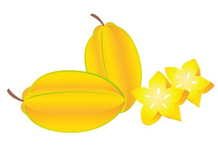 Star fruit, tropical fruits illustration 일러스트