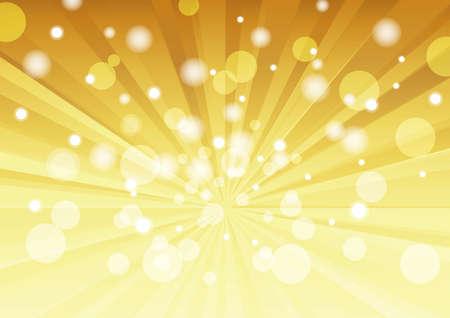 Radial background (gold, light, foam)