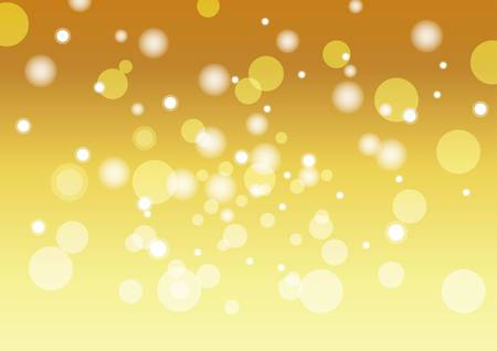 Gold and bubble background material