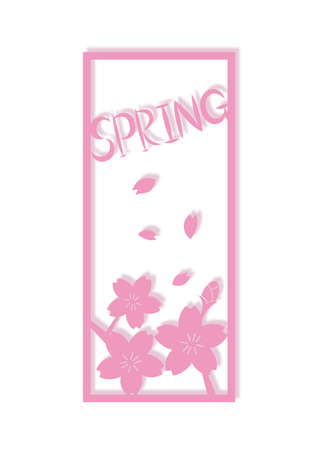 Spring and Cherry Blossom Frames Illustration