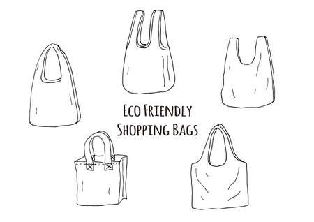 Eco bag Vetores