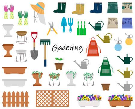 Gardening Illustration Set