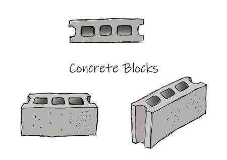 Concrete block Illusztráció
