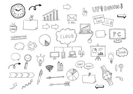 Business illustration set (hand-drawn)