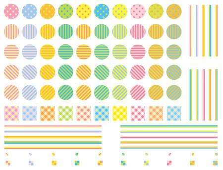Pop swatch pattern set