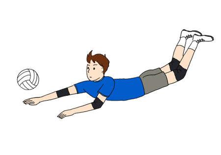 Volleyball Player (Rivero) Stock fotó