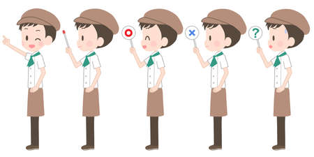 Illustration of a pastry chef with a pointer