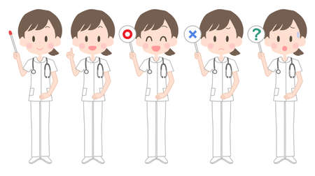 Illustration of a female nurse holding a pointer
