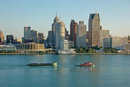 Daytime scity skyline waterfront 版權商用圖片
